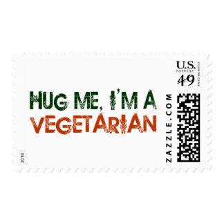 Hug Me I'M A Vegetarian Postage Stamp