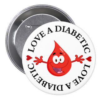 Hug Me I'm Diabetic Pinback Button