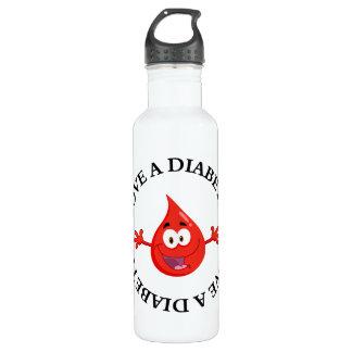 Hug Me I'm Diabetic Water Bottle