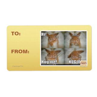 Hug me shipping label