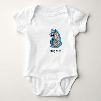 Hug Me Polar Bear Baby Bodysuit