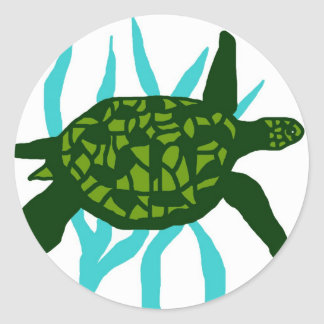 Hug me sea turtle stickers