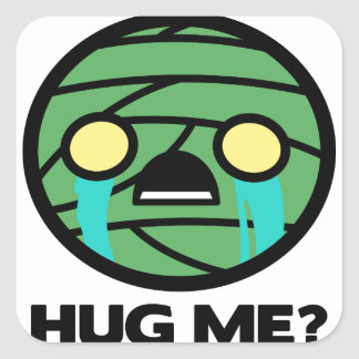 Hug Me? Square Sticker