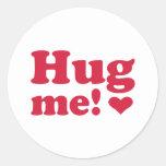 Hug me stickers
