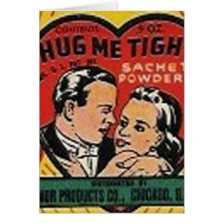 hug me tight sachet powder greeting card