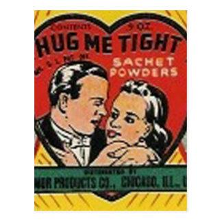 hug me tight sachet powder post card