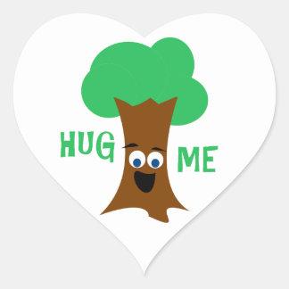 Hug Me (Treehugger) Heart Sticker