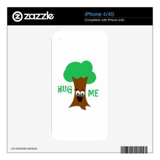 Hug Me (Treehugger) Skins For The iPhone 4