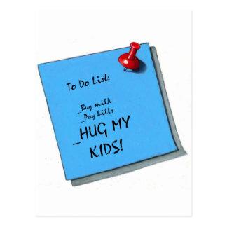 HUG MY KIDS MEMO POSTCARD