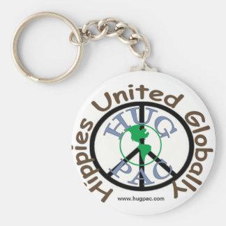 HUG PAC Key Chain - Peace Logo