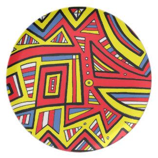 Hug Persistent Philosophical Charming Melamine Plate