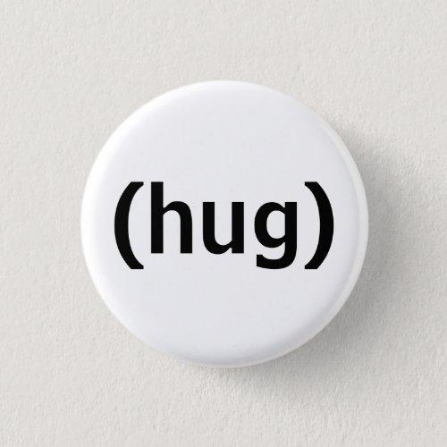 hug pinback button