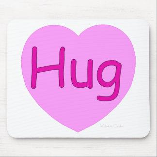 Hug Pink Heart Mouse Mat