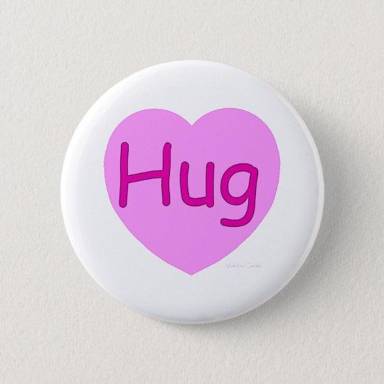 Hug Pink Heart Pinback Button