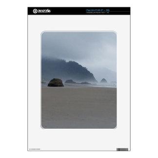 Hug Point Oregon Coast on a Misty Day Decal For The iPad