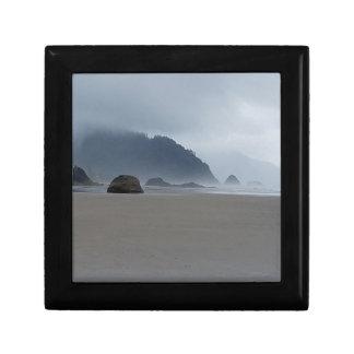 Hug Point Oregon Coast on a Misty Day Gift Box
