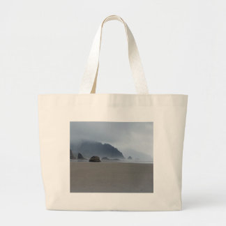 Hug Point Oregon Coast on a Misty Day Large Tote Bag