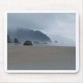 Hug Point Oregon Coast on a Misty Day Mouse Pad