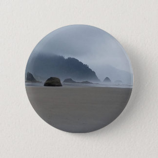 Hug Point Oregon Coast on a Misty Day Pinback Button