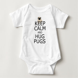 Hug Pugs to Keep Calm Baby Bodysuit