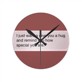 Hug Round Clock