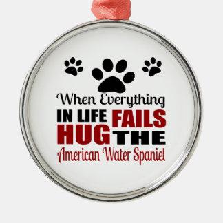 Hug The American Water Spaniel Dog Metal Ornament