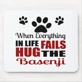 Hug The Basenji Dog Mouse Pad