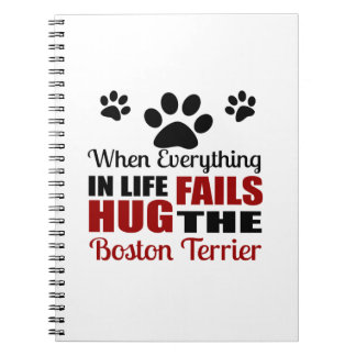 Hug The Boston Terrier Dog Notebook