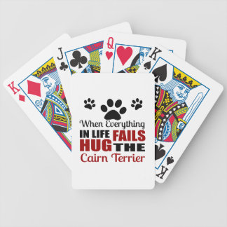 Hug The Cairn Terrier Dog Bicycle Playing Cards