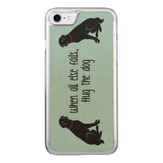 """Hug the Dog"" Carved iPhone 7 Case"