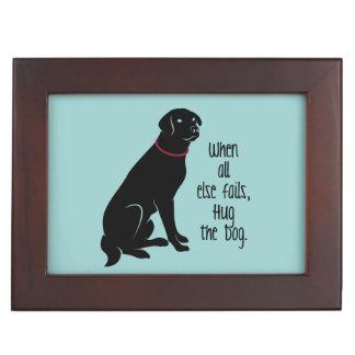 """""""Hug the Dog"""" Keepsake Box"""