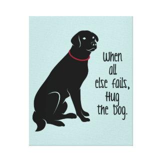 """Hug the Dog"" Wrapped Canvas"