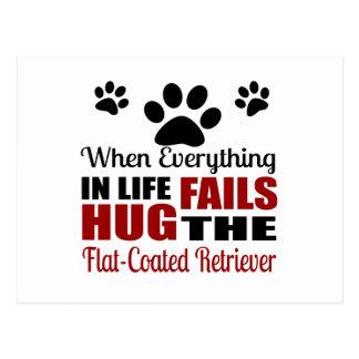 Hug The Flat-Coated Retriever Dog Postcard