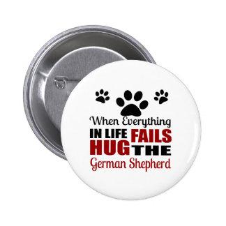 Hug The German Shepherd Dog Button