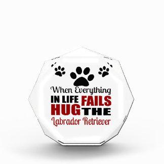 Hug The Labrador Retriever Dog Acrylic Award