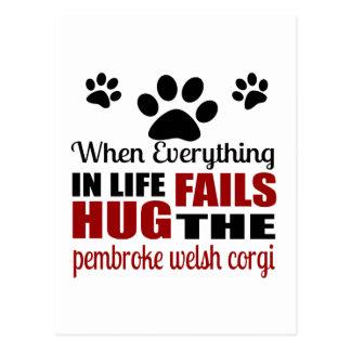 Hug The pembroke welsh corgi Dog Postcard