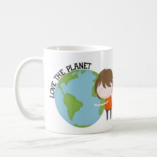 Hug the world coffee mug