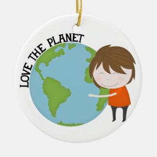 Hug the world christmas ornaments