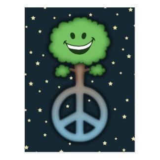 Hug-Tree-Peace Postcard