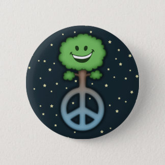hug-tree-peace-TIL Pinback Button