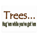 Hug Trees Postcard