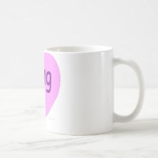Hug U Pink Heart Coffee Mug
