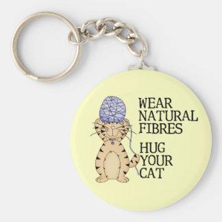 Hug Your Cat Basic Round Button Keychain