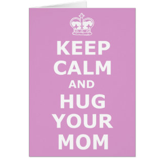Hug your mom mother's day card
