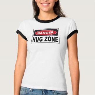 Hug Zone Danger Sign T-Shirt