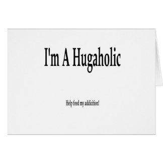 hugaholic tarjeta de felicitación