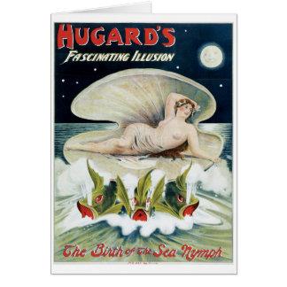 Hugard's ~ Fascinating Illusion Vintage Magic Act Card