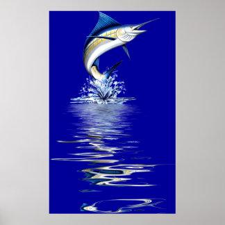 "Huge 44""x72"" Marlin Poster-6ft.Tall"