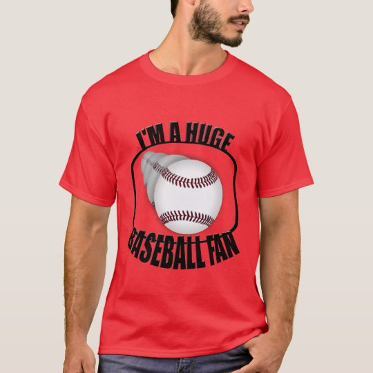Huge Baseball Fan Mens Red T-Shirt