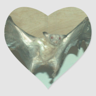 "Huge Bat ""flying fox"" Heart Sticker"